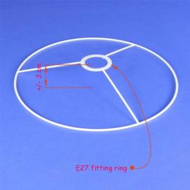 Lampenkap ringen serie 43, met E27 fittingring.