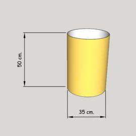 cillinder dia 350 mm, hoogte 500  mm (of  450 mm.); stof klasse 1