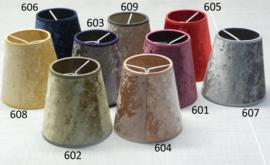 nr. 601 velours paars / lila op glashelder pvc.