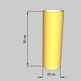 cilinder dia 15 cm. hoog 50 cm. of 45 cm. in  stof klasse 1.