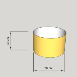 cilinder dia  500 mm.,  hoogte 300 mm. (of 250 mm.); stof klasse 1