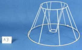 Model A3 frame 40 cm. voor een genaaide plooilampenkap