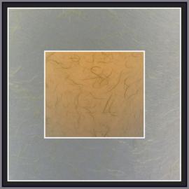 nr. 18 Silk paper ivory, geplakt op wit pvc.