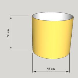 cillinder dia 550 mm, hoogte 500  mm (of  450 mm.); stof klasse 1