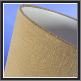nr. 514 Natuur linnen khaki geplakt op wit pvc.