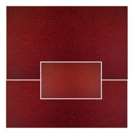 nr. 481 Weefstof bordeau rood, geplakt op mat transparant pvc.