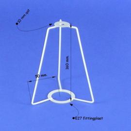 Hulpsupport om van een hangkap een kap voor een lampvoet te maken.