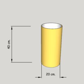cilinder dia  200 mm.,  hoogte 400 mm. (of 350 mm.); stof klasse 1