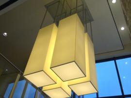 Plan B monumentale lamp in hal kantoor Hilversum.