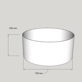 cilinder dia  700 mm. / 300 mm. stof klasse 1.