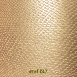 Stof 517 slang goud op goud pvc.