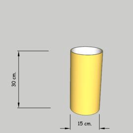 cilinder dia 15 cm. hoog 30 cm. of 25 cm. in  stof klasse 1.