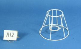 Frame 16 cm. voor een genaaide plooilampenkap