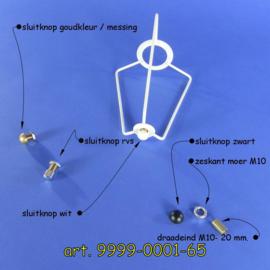 Setje om een hulpsupport met de lampenkap ring te verbinden.