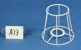 Model A13 frame 13 cm. voor een genaaide plooilampenkap