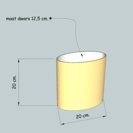 Ovale cilinder dia 200 mm. hoogte 200 mm. , stof klasse 1