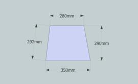 Frame 35 cm. voor een genaaide plooilampenkap