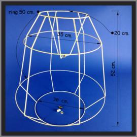 Frame voor een woldraad wikkel lamp, model  B02