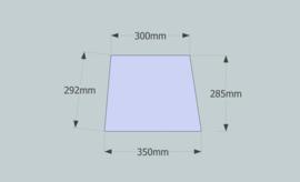 Frame 34 cm. voor een genaaide plooilampenkap
