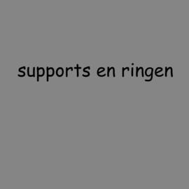 Supports / kapdragers en lampenkap ringen.
