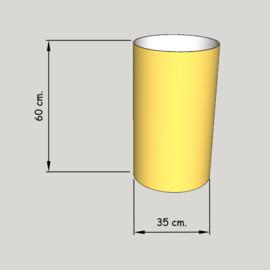 cillinder dia 350 mm, hoogte 600  mm (of  550 mm.); stof klasse 1