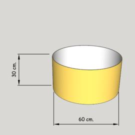 cilinder dia  600 mm.,  hoogte 300 mm. (of 250 mm.); stof klasse 1