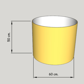 cillinder dia 600 mm, hoogte 500  mm (of  450 mm.); stof klasse 1