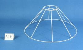 Model A17 frame 45 cm. voor een genaaide plooilampenkap [ hangkap ].