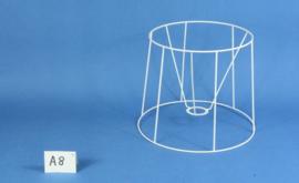 Model A8 frame 30 cm. voor een genaaide plooilampenkap