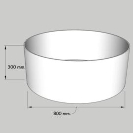cilinder dia  800 mm. / 300 mm. stof klasse 1.