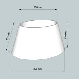 lampenkap ovaal model 4130 stofklasse 2