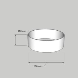 cilinder dia  650 mm. / 200 mm. stof klasse 1.