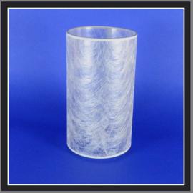 nr. 503 Metaal zilver draad geplakt op glashelder pvc.( kl 2 ).
