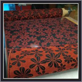 nr. 449 Yaris rood, geplakt op glashelder pvc.