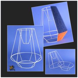 Frame  voor een woldraad wikkel lamp, model  B01