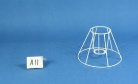 Frame 20 cm. voor een genaaide plooilampenkap
