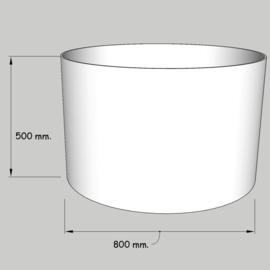cilinder dia  800 mm. / 500 mm. stof klasse 1.