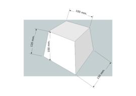 Lampenkappen vierkant schuin en recht.