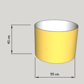 cilinder dia  550 mm.,  hoogte 400 mm. (of 350 mm.); stof klasse 1