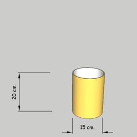 cilinder dia 15 cm. hoog 20 cm. of 15 cm.  in  stof klasse 1.