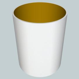 nr. 361 chintz wit op goud pvc.