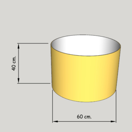 cilinder dia  600 mm.,  hoogte 400 mm. (of 350 mm.); stof klasse 1