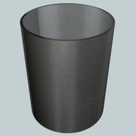 nr. 457 Organdy zwart geplakt op glashelder pvc