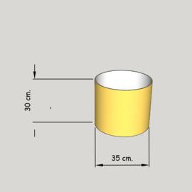 cilinder dia  350 mm.,  hoogte 300 mm. (of 250 mm.); stof klasse 1