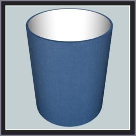 nr. 131 Uniestof celtic blue, geplakt op wit pvc.