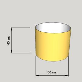 cilinder dia  500 mm.,  hoogte 400 mm. (of 350 mm.); stof klasse 1