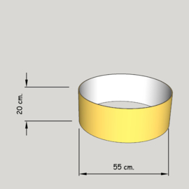 cilinder dia 550 mm.