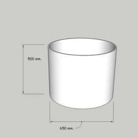 cilinder dia  650 mm. / 500 mm. stof klasse 1.