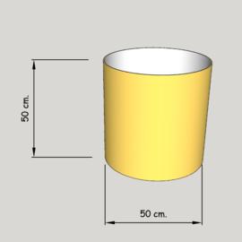 cillinder dia 500 mm, hoogte 500  mm (of  450 mm.); stof klasse 1