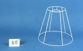 Model A15 frame 25 cm. voor een genaaide plooilampenkap [ hangkap ].